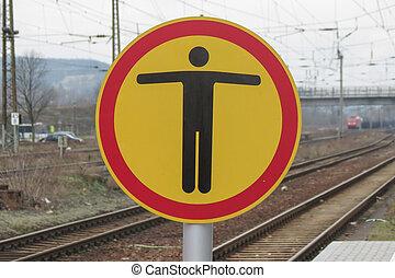 no pedestrians sign - Regulatory signs, no pedestrians...