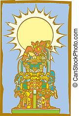 Reclining Maya with Slaves