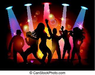 Club, fiesta, gente