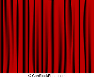 Red curtain from the theatre or cinema