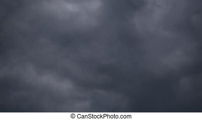 Fast moving dark clouds. Moving quickly. Dramatically
