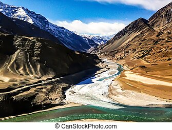 Confluence - It's the confluence of 2 rivers - Indus and...