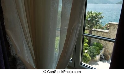Sea view from the window. Budva, Montenegro