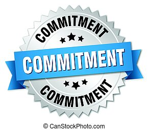 commitment round isolated silver badge