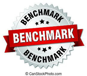 benchmark round isolated silver badge
