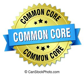 common core round isolated gold badge