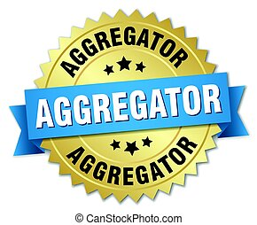 aggregator round isolated gold badge
