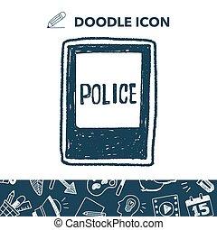 police station doodle