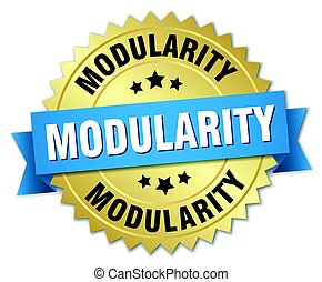 modularity round isolated gold badge