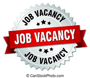 job vacancy round isolated silver badge