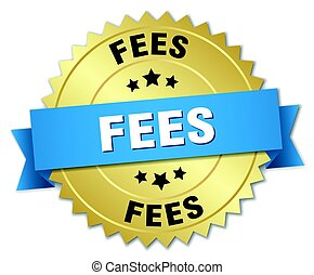 fees round isolated gold badge