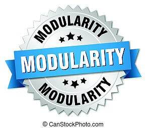 modularity round isolated silver badge
