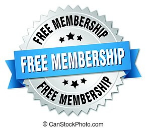 free membership round isolated silver badge