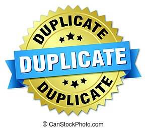 duplicate round isolated gold badge