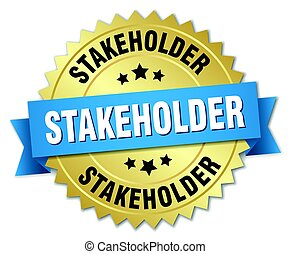 stakeholder, écusson, rond, or, isolé