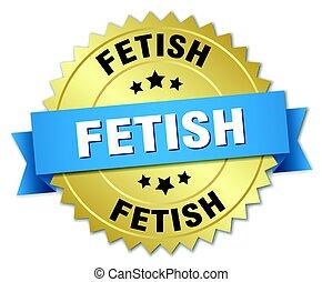 fetish round isolated gold badge
