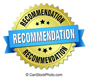 recommendation round isolated gold badge