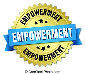 empowerment round isolated gold badge