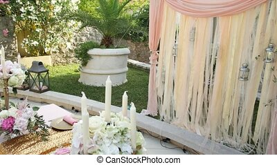 Table for Candy Bar at the wedding.