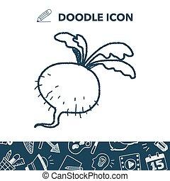 Radish doodle