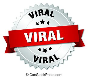 viral round isolated silver badge