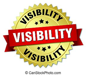 visibility round isolated gold badge