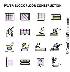 Paver Block Floor - Paver block brick floor and construction...