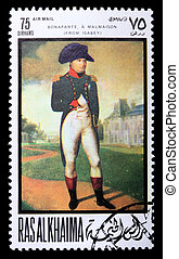 Postage stamp with Napoleon