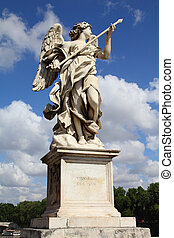 Ponte Sant' Angelo - Rome, Italy. One of the angels at...