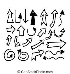 Hand drawn arrow
