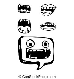cartoon mouth icon