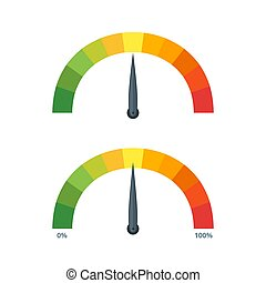Speed metering icons. Vector Illustration.