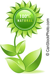 Vector illustration - Environmet friendly label, fresh and...