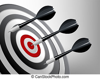 Sport Background - Success Target, Dart on the target,...