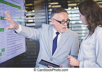 Picture of professional business presentation