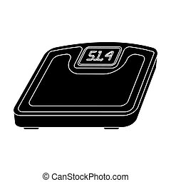 The scales in the gym for the weighing.Gym And Workout single icon in black style bitmap,raster symbol stock illustration.
