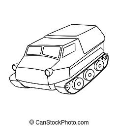 Tank for the marshes. Caterpillar transport of...