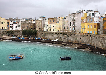 Trapani, Sicily, Italy. Old town architecture skyline.