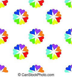 Seamless colorful hearts pattern. Valentine's day background.