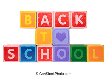 loving back to school in toy block letters - toy letters...