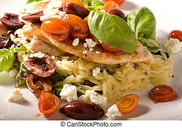 Chicken with Feta Cheese and Tomatoes