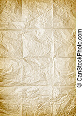 Folded Paper - background of old wrinkled and folded sheet...