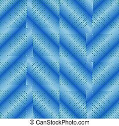 Abstract background with blue checker patterns in metallic design, 3d optical art illusion