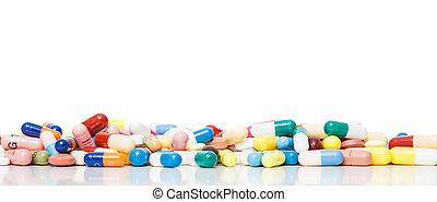 Pharmaceuticals on white background