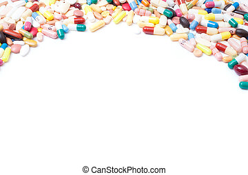Pharmaceuticals background texture
