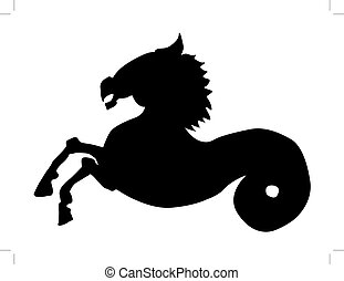 hippocampus - silhouette of hippocampus