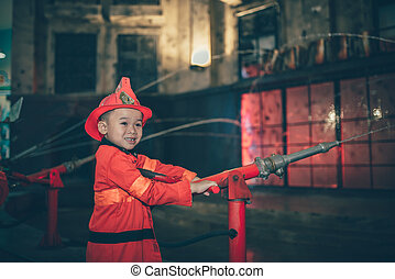 Children having fun in 