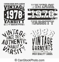 Vintage stamp set