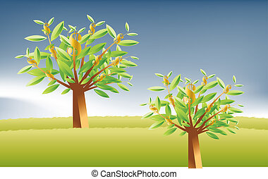 Vector illustration - Money Land , best place to invest your...