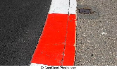 Formula 1 Surface in Monaco - Texture of Motor Race Asphalt...